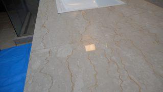 大理石の洗面台カウンター研磨