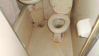 3点ユニットバス研磨再生・特殊洗浄前