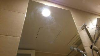 浴室鏡の磨きキズを研磨して除去し再生する