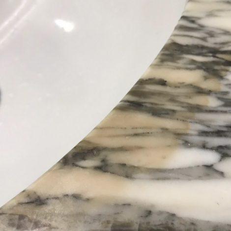 大理石洗面カウンターサビ、シミ汚れ