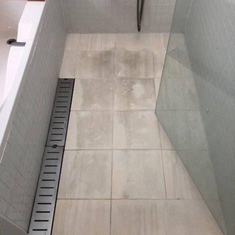 ライムストーン浴室洗い場研磨