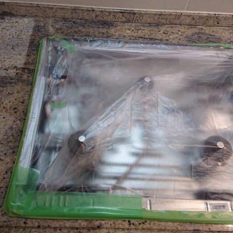 御影石キッチンカウンターの油汚れ